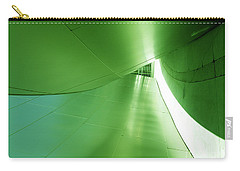 Carry-all Pouch featuring the photograph Green Tunnel. Los Angeles Series. by Ausra Huntington nee Paulauskaite