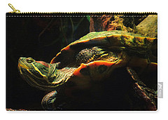 Slider Turtle Carry-all Pouch by Rosalie Scanlon