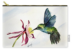 Green Violet-ear Hummingbird Carry-all Pouch by Sam Sidders