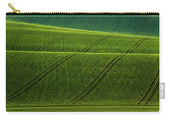 Carry-all Pouch featuring the photograph Green Waves Of Rolling Hills by Jenny Rainbow