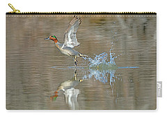 Green-winged Teal Duck Carry-all Pouch by Tam Ryan