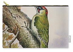Green Woodpecker Carry-all Pouch by Carl Donner