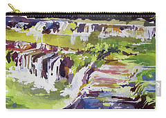 Carry-all Pouch featuring the painting Greenbelt Beauty by Rae Andrews