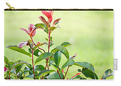 Carry-all Pouch featuring the photograph Greenery And Red by Ivana Westin