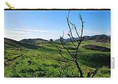 Carry-all Pouch featuring the photograph Greenery In The Hills Landscape by Matt Harang