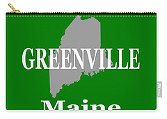 Carry-all Pouch featuring the photograph Greenville Maine State City And Town Pride  by Keith Webber Jr