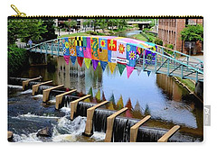 Carry-all Pouch featuring the photograph Greenville River Walk by Corinne Rhode