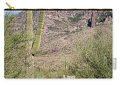 Carry-all Pouch featuring the photograph Greeting The Night by Phyllis Denton