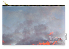 Carry-all Pouch featuring the photograph Pink Flecked Sky by Linda Hollis