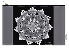 Grey Bubbley Eyes Mandala Carry-all Pouch by Wernher Krutein
