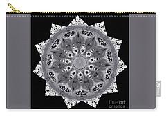 Grey Bubbley Eyes Mandala Carry-all Pouch