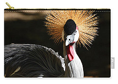 Grey Crowned Crane Carry-all Pouch by Kathy Baccari