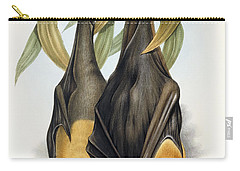 Grey Headed Flying Fox, Pteropus Poliocephalus Carry-all Pouch by John Gould