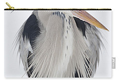 Grey Heron In The Snow Carry-all Pouch