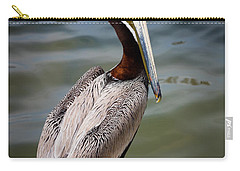 Grey Pelican Carry-all Pouch by Inge Johnsson