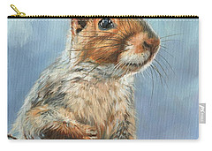 Carry-all Pouch featuring the painting Grey Squirrel by David Stribbling