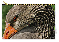 Greylag Goose Portrait  Carry-all Pouch by Gary Whitton
