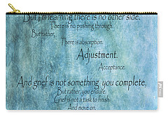 Carry-all Pouch featuring the mixed media Grief 2 by Angelina Vick