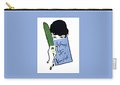 Carry-all Pouch featuring the digital art Griffe by ReInVintaged