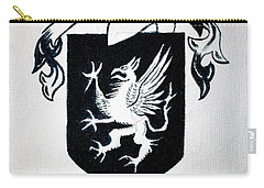 Griffin Family Crest Carry-all Pouch by Stacy C Bottoms