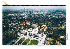 Griffith Observatory And Dtla Carry-all Pouch by Andrew Mason