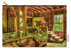 Carry-all Pouch featuring the photograph Grindingworks Mingus Mill Great Smoky Mountains Art by Reid Callaway