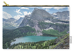 Grinnell Lake From Afar Carry-all Pouch by Alpha Wanderlust