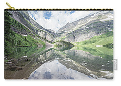 Grinnell Lake Mirrored Carry-all Pouch by Alpha Wanderlust