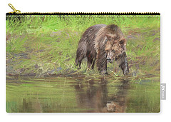 Grizzly Bear At Water's Edge Carry-all Pouch