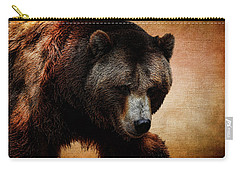 Grizzly Bear Carry-all Pouch by Judy Vincent