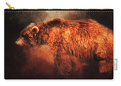 Grizzly Bear  Carry-all Pouch by Toni Hopper