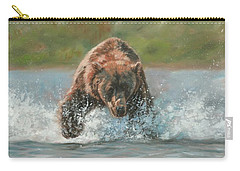 Grizzly Charge Carry-all Pouch by David Stribbling