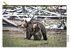 Grizzly Cub Holding Mother Carry-all Pouch