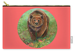 Grizzly In The Meadow Carry-all Pouch