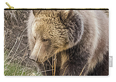 Carry-all Pouch featuring the photograph Grizzly Mama by Yeates Photography