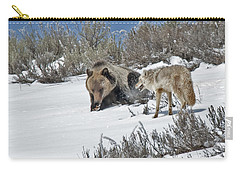 Grizzly With Coyote Carry-all Pouch