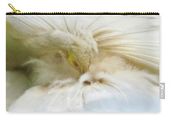 Carry-all Pouch featuring the photograph Grooming Peacock by Katie Wing Vigil