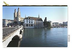 Grossmunster, Wasserkirche And Munsterbrucke - Zurich Carry-all Pouch