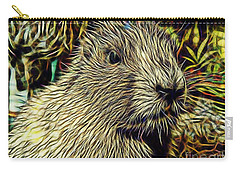 Groundhog Carry-all Pouch by Marvin Blaine