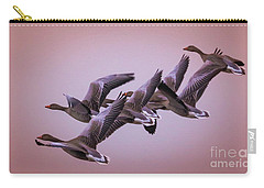 Carry-all Pouch featuring the photograph  Group Flight  by Franziskus Pfleghart