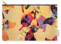 Group Of Butterflies With Colorful Wings Carry-all Pouch