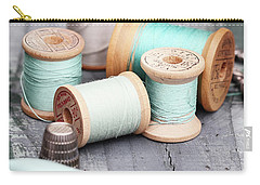 Group Of Vintage Sewing Notions Carry-all Pouch
