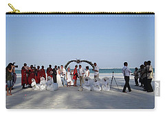 Group Wedding Photo Africa Beach Carry-all Pouch