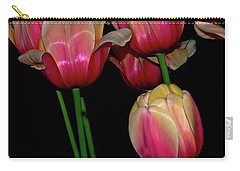 Grouping Ofpink And Yellow Tulips Carry-all Pouch