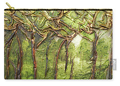Carry-all Pouch featuring the mixed media Grove Of Trees by Angela Stout