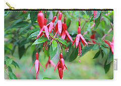 Carry-all Pouch featuring the photograph Growing In Red And Purple by Laddie Halupa