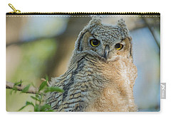 Growing Into A Great Horned Owl Carry-all Pouch