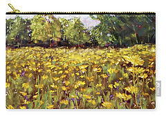 Growing Wild - Wildflower Landscape Carry-all Pouch by Barry Jones
