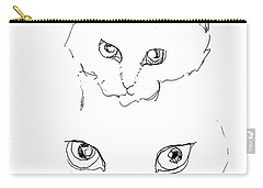 Carry-all Pouch featuring the drawing Grrrrrrrrrr by Denise Fulmer