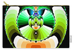 Carry-all Pouch featuring the digital art Grufflixie by Andrew Kotlinski